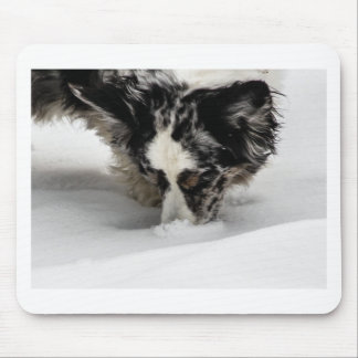 Snow Snout Corgi Mouse Pad