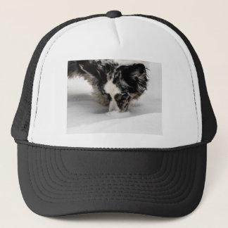 Snow Snout Corgi Trucker Hat