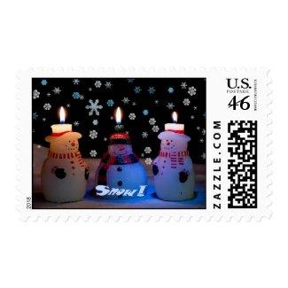 Snow! Snowmen Postage 2 stamp