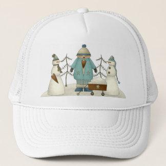 Snow Snowmen Trucker Hat