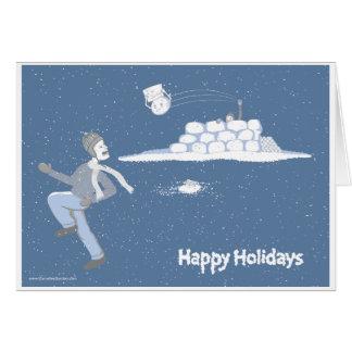 Snow Sorry Card