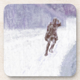 Snow Storm Art Coaster