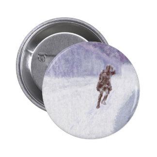Snow Storm Art Pinback Button