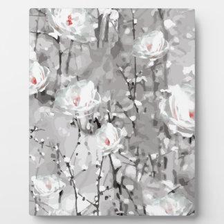 Snow Storm Flowers Plaque