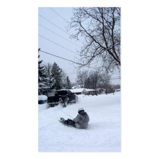 snow storm fun business card
