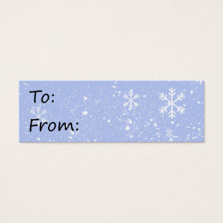 Snow storm gift tag
