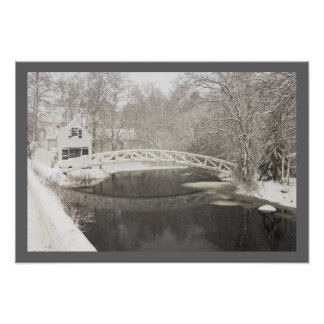 Snow Storm In Somesville Maine Poster