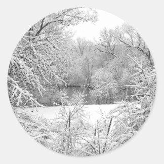 Snow Storm Classic Round Sticker
