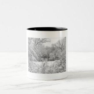 Snow Storm Two-Tone Coffee Mug