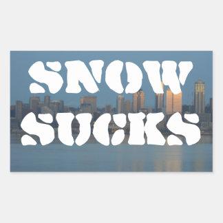 Snow sucks sticker