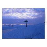 Snow & sunset greeting cards