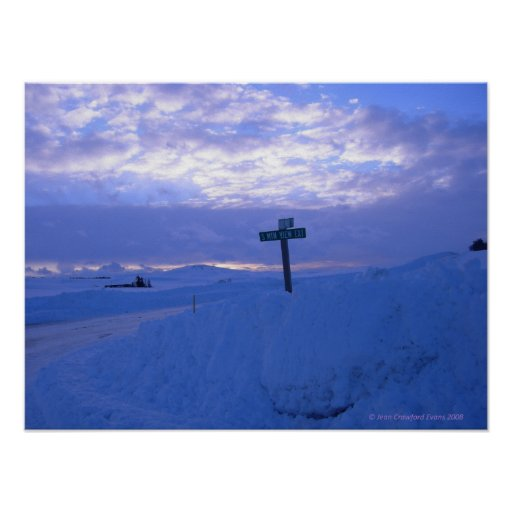 Snow & sunset posters
