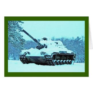Snow Tank Greeting Cards
