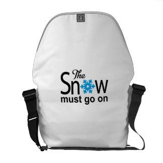 Snow The must go on Bolsa De Mensajeria