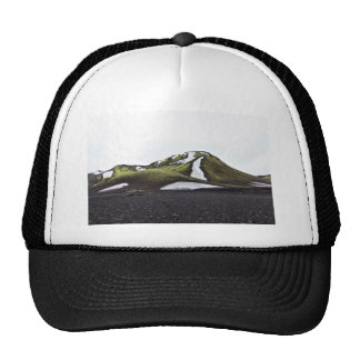 Snow Themed, Perfect Landscape Of Green Mountain A Trucker Hat
