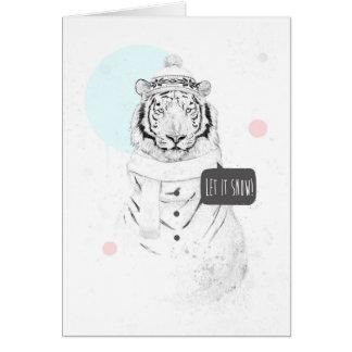 Snow tiger card