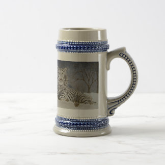 Snow tiger collector  stein coffee mugs