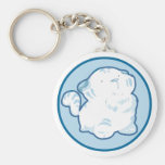 Snow Tiger Keychain