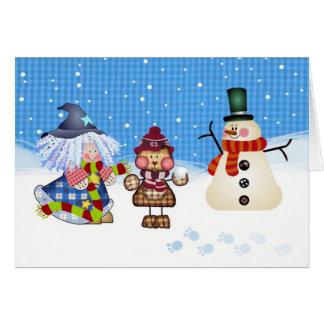 Snow Time Fun at Christmas. Card
