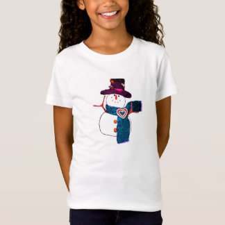 Snow Time to Wait Girl's T-Shirt