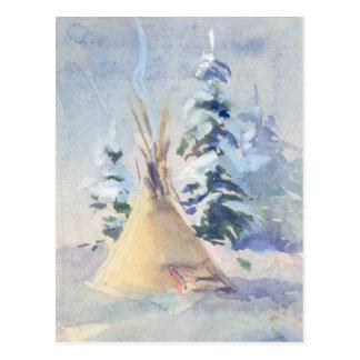 SNOW TIPI by SHARON SHARPE Postcard