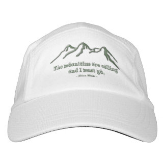 Snow tipped Mtns are Calling - John Muir Headsweats Hat