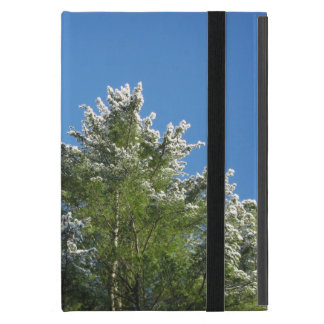 Snow-tipped Pine Tree on Blue Sky iPad Mini Case