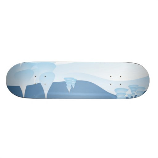 Snow Tipped Trees Skate Board Decks