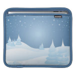 Snow Tipped Trees Sleeve For iPads