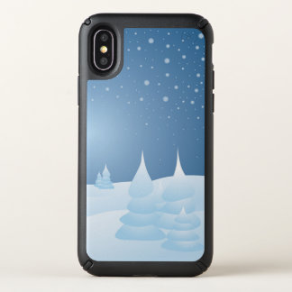 Snow Tipped Trees Speck iPhone X Case