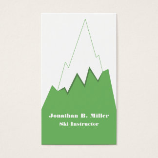 Snow Topped Mountain Ski Instructor Business Cards