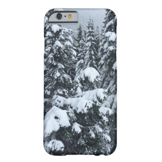 snow-topped trees iPhone case