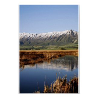 Snow Topped wellsville Mountain Poster