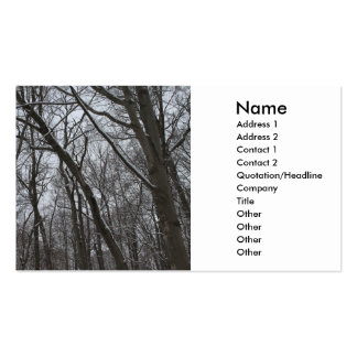 Snow Topped Winter Trees - Tall Icy Frozen Trees Business Cards
