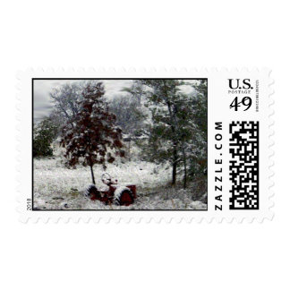 Snow Tractor Postage Stamps