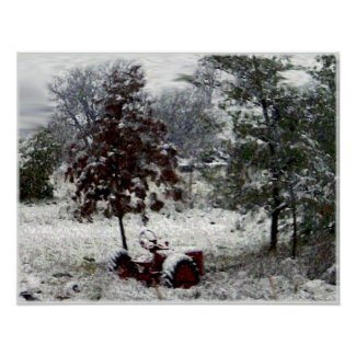 Snow Tractor print