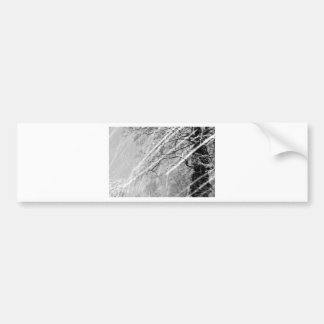 snow trails bumper sticker