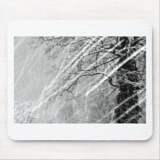 snow trails mouse pad
