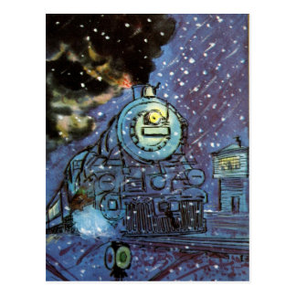 Snow Train Postcard
