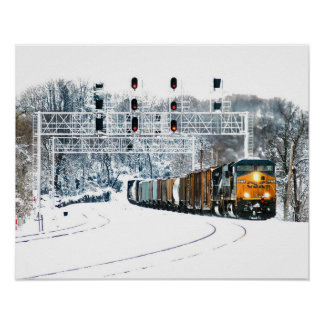 Snow Train Print