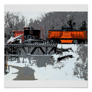 Snow Train Poster/Print Poster
