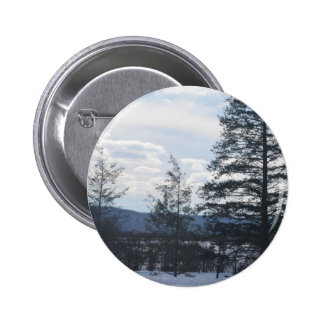 Snow trees 2 inch round button