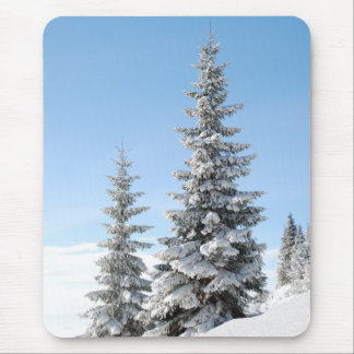 Snow Trees Mouse Pad
