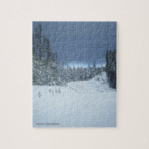 Snow Trees Winter Puzzle