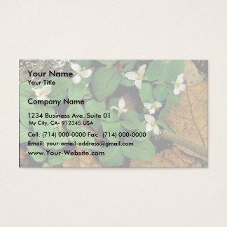 Snow trillium business card