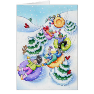 Snow Tubing Card