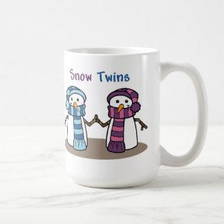 Snow Twins Boy and Girl Mugs