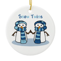 Snow Twins Boys Ceramic Ornament