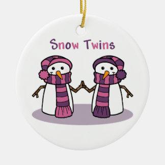 Snow Twins Girls Ceramic Ornament