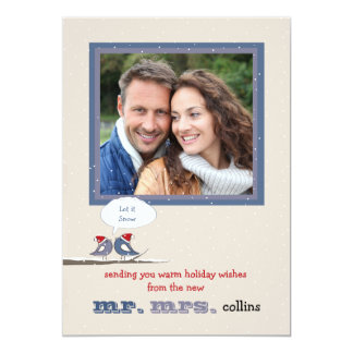 Snow Twosome Holiday Photo Card